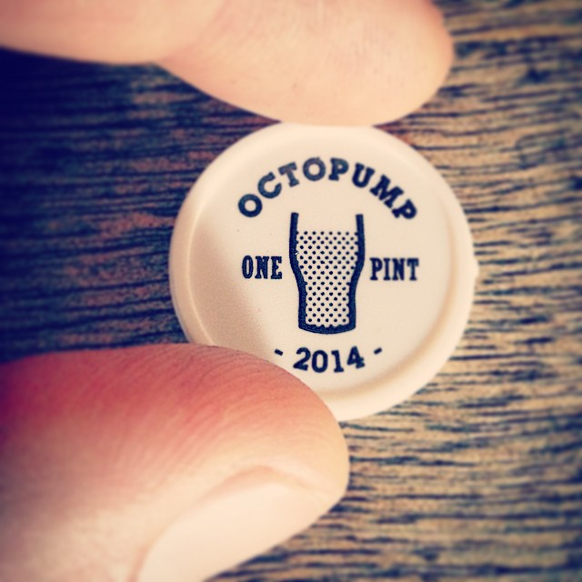 Get your beer tokens #octopump2014 @anticlondon