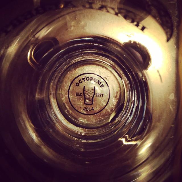 Empty Octopump glass